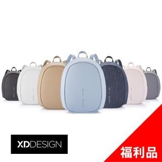 【XDDESIGN】BOBBY ELLE 時尚皮革/丹寧防盜後背包-桃品國際公司貨(福利品)