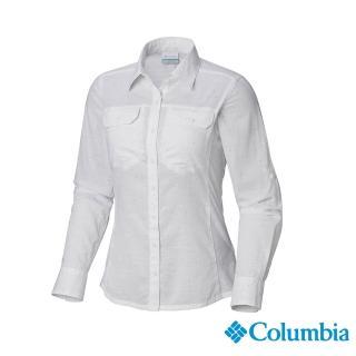 【Columbia 哥倫比亞】女款-純棉長袖襯衫-白色(UAL79900WT / 排汗.襯衫.長袖)