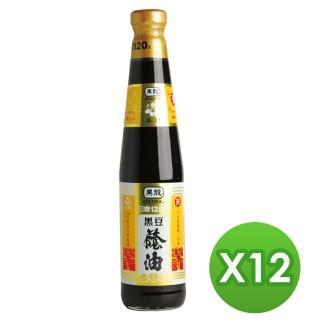 【黑龍】春蘭級黑豆蔭油膏(400mlx12瓶)