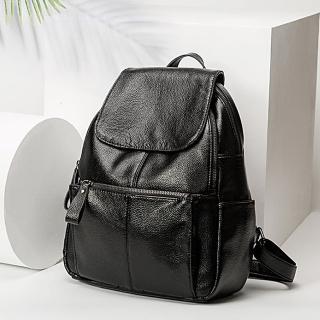 【lapagayo】韓系極簡真皮多功能後背包