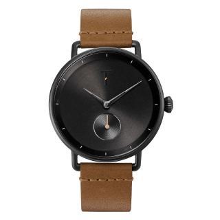 【TYLOR】RETRO X HORWEEN時尚腕錶-淺啡色X黑(TLAH003)