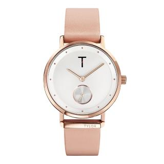 【TYLOR】夢想時尚T字時刻腕錶-粉紅色(TLAJ001)