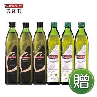 【西班牙美洛莉】碧卡答特級冷壓初榨橄欖油(500mlX3贈葡萄籽油X3_再送馬賽皂+雙耳湯鍋)