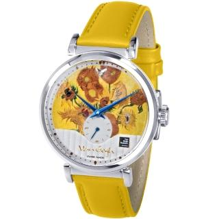 【Van Gogh 梵谷】小秒盤梵谷經典名畫女錶(C-SLLV-14 向日葵)