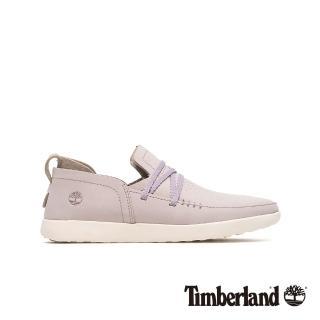 【Timberland】女款淺紫色磨砂革舒適透氣休閒鞋(A1YCVS40)