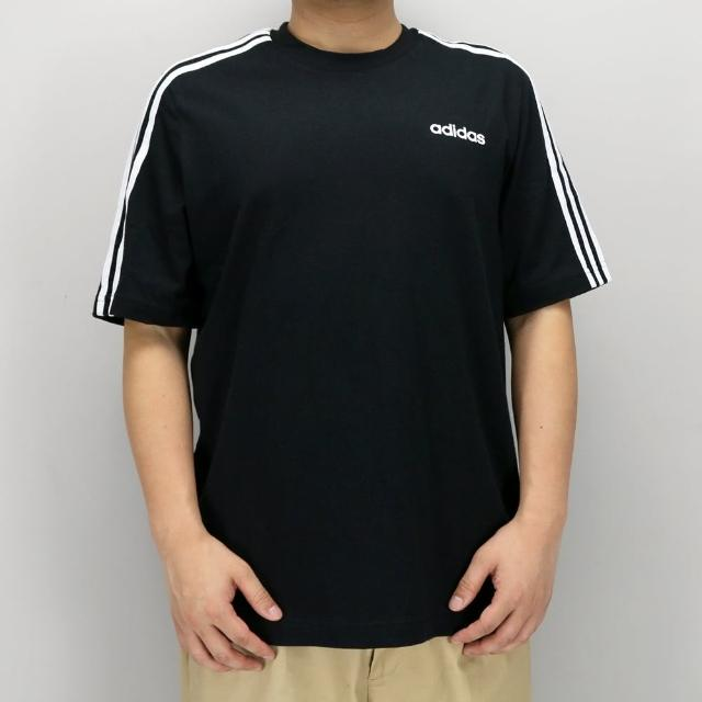 【adidas 愛迪達】E 3S TEE 黑白-DQ3113(男短袖運動上衣)