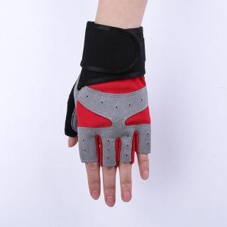 【Sp house】個性骷髏運動健身防滑半指手套(5色可選)