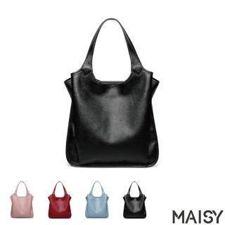 【MAISY】優雅時尚牛皮休閒翅膀手提包(現+預  黑色 / 藍色 / 紅色 / 粉色)