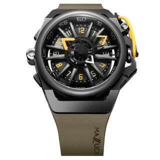【MAZZUCATO】義式工藝超跑美學翻轉機械石英雙面腕錶(RIM04-GN136)