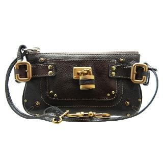 【Chloe' 蔻依】Replica系列鎖頭造型手提/手拿兩用小包(巧克力色/展示品)