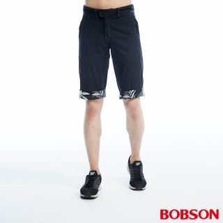 【BOBSON】男款雙面穿短褲(黑233-87)