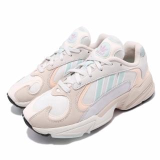 【adidas 愛迪達】休閒鞋 Yung-1 復古老爹鞋 女鞋 愛迪達 經典三葉草 穿搭推薦 球鞋 米白 薄荷綠(CG7118)