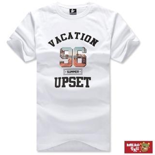 【AMERO】台灣製造 男裝圓領短袖T恤(純棉布料  夏威夷假期圖案印花 情侶裝 有大尺碼)