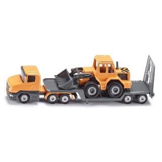 【SIKU】平板拖車 堆土機(小汽車)