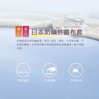【House Door 好適家居】藍晶靈記憶床墊-日本大和抗菌表布10cm厚(單人3尺)