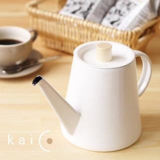 【kaico】簡約風琺瑯手沖壺1.3公升(日本製)