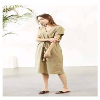 SuperWands海島棉舒適修身洋裝