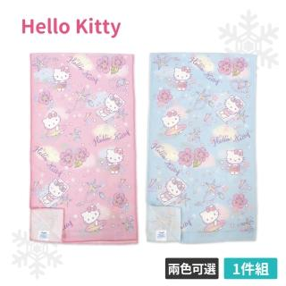 【SANRIO 三麗鷗】Hello Kitty 涼感運動巾(粉/藍 30x100cm)