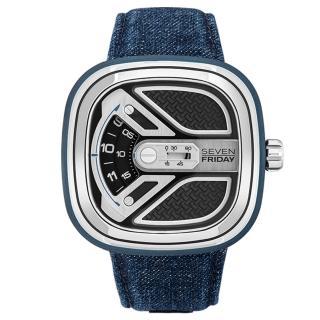 【SEVENFRIDAY】工業美學自動上鍊機械錶-牛仔藍(M1B-01)