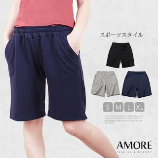 【Amore】彈力舒適百搭棉休閒短褲(夏日休閒必備)