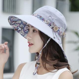 【89 zone】法式透氣純色大帽簷防曬/遮陽帽(灰)