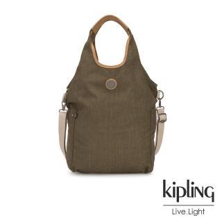 【KIPLING】城市探索橄欖綠肩背側背包-URBANA-EDGELAND系列