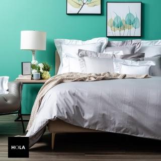 【HOLA】義式孟斐斯埃及棉緹花歐式枕套 2入 灰色