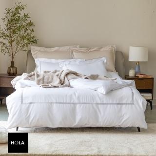 【HOLA】艾維卡埃及棉素色床包加大晨白