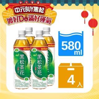 【黑松】黑松茶花綠茶(580ml X 4入)