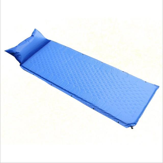 【PUSH!】戶外休閒用品自動充氣墊帶枕可拼接防潮墊(P130)/