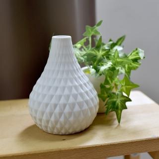 【Meric Garden】北歐現代簡約創意陶瓷花瓶(清雅白S)