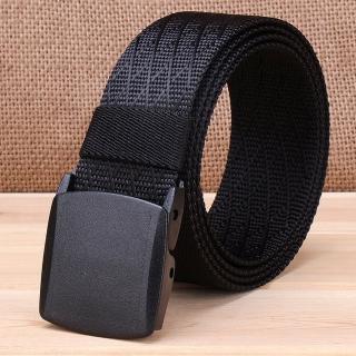 【ZK】塑鋼扣頭尼龍腰帶黑色腰圍20吋-40吋適用(ZK2051BK/GN 黑色/綠色)