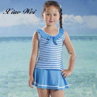 【小薇的店】泳之美品牌時尚女童二件式泳裝(NO.67762-4L)