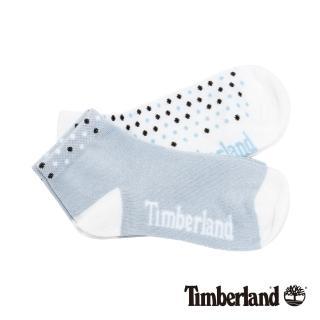 【Timberland】女款藍白黑撞色圓點素面兩件組短筒襪(A1ENKP85)