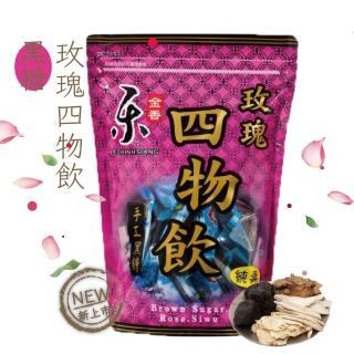 【樂金香】超大顆純正台灣頂級黑糖玫瑰四物茶磚(420克/包)