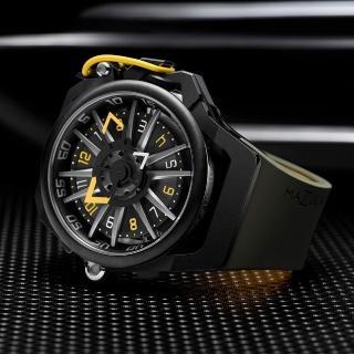 【Mazzucato】RIM 鷗翼式翻轉超跑雙機械石英手錶(RIM04-GN136)