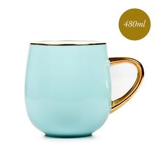 【Royal Duke】福氣骨瓷馬克杯/早餐杯-海闊天空(水藍色)