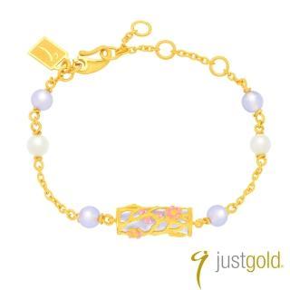 【Just Gold 鎮金店】喜‧玲瓏純金系列 黃金手鍊