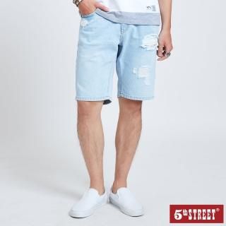 【5th STREET】男牛仔短褲-漂淺藍