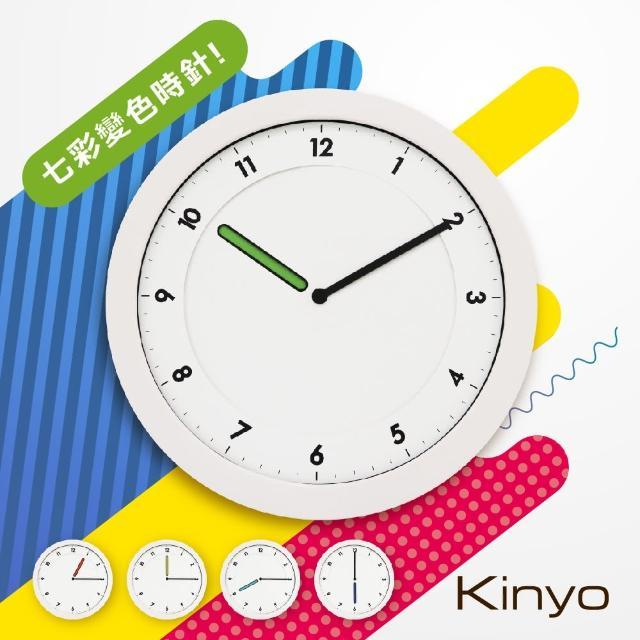 【KINYO】超薄創意旋盤掛鐘(CL-203)/
