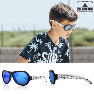 【瑞士SHADEZ】兒童太陽眼鏡 黑白車車 3-7歲(台灣製造 鏡架可彎)