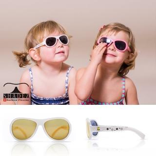 【瑞士SHADEZ】兒童太陽眼鏡 白色蜜蜂 3-7歲(台灣製造 鏡架可彎)