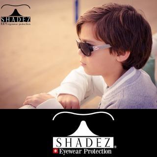 【瑞士SHADEZ】兒童太陽眼鏡 黑色賽車 3-7歲(台灣製造 鏡架可彎)