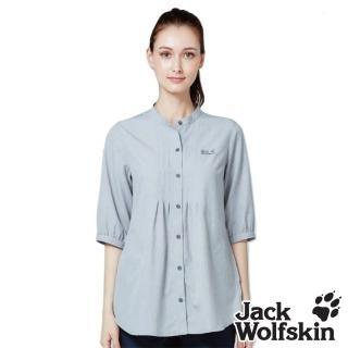 【Jack wolfskin 飛狼】女 短袖長版排汗襯衫 長版(灰色)
