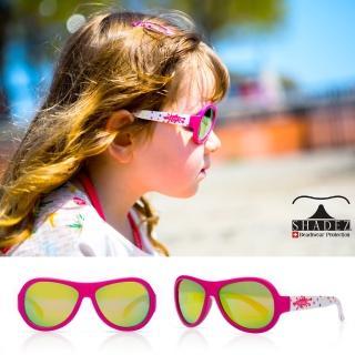【瑞士SHADEZ】兒童太陽眼鏡 桃色彩點 3-7歲(台灣製造 鏡架可彎)