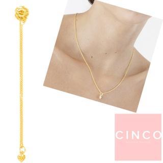 【CINCO】葡萄牙精品 CINCO Li necklace 24K金愛心項鍊 迷你款(925純銀24K金)
