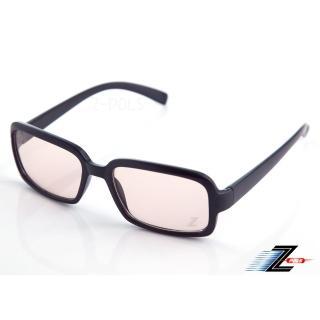 【Z-POLS】經典質感黑 百搭大框 MIT專業設計PC材質抗藍光眼鏡(濾藍光最佳利器兼具抗UV400多功能)