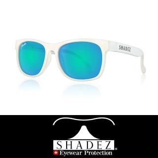 【瑞士SHADEZ】頂級偏光太陽眼鏡 3-16歲白框天空藍(台灣製造 鏡架可彎)