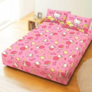 【享夢城堡】天絲雙人床包涼被四件組(HELLO KITTY 白日夢-粉)