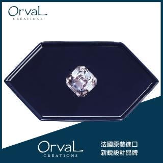 【MioMall 米歐廣場】奧芙Orval 法國品牌設計 - 六角形造型盤沙拉盤/造型餐盤/衛浴收納盤(蔚藍海洋之心)